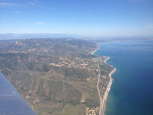 Leaving Malibu behind.  PCH below. Surf's up.