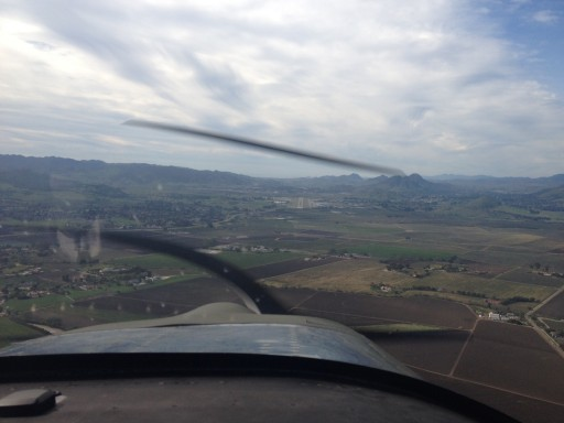 On glide path for rwy29, KSBP